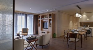 Aroma Garden Serviced Suites by Lanson Place - 2-bedroom Suite Living and Dining Room